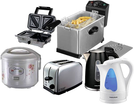 selection of small electrical appliances