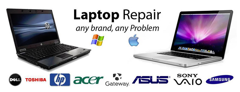 Laptops repaired all makes and models