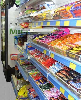 selection of confectionery